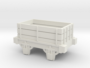 00 Scale Open Truck (Motorised) in White Natural Versatile Plastic
