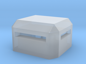 Square Bunker in Smooth Fine Detail Plastic