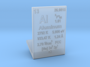 Aluminum Element Stand in Smooth Fine Detail Plastic