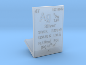 Silver Element Stand in Smooth Fine Detail Plastic