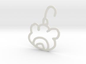 Meat Ball Earrings in White Natural Versatile Plastic