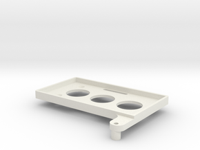 Battery Tray TRX4 -86x46 in White Natural Versatile Plastic