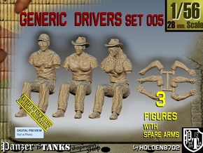1/56 Generic Drivers Set005 in Smooth Fine Detail Plastic