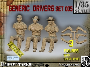 1/35 Generic Drivers Set005 in Smooth Fine Detail Plastic