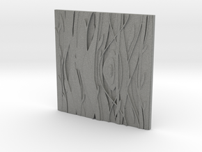 Floral Decorative tile 7.1x7.1x.5 cm in Gray PA12