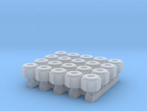 Nascar Lug Nut Set in Smoothest Fine Detail Plastic: 1:24