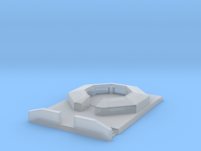 flak 88 emplacement scale 1/100 in Smooth Fine Detail Plastic