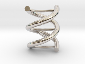 Nuclear DNA pendant necklace in Rhodium Plated Brass