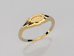 Flower ring in 14K Yellow Gold: 7.5 / 55.5