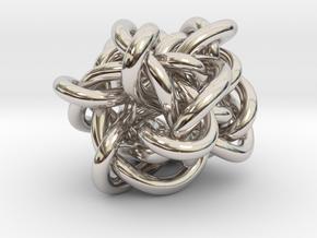 B&G Knot 06 in Rhodium Plated Brass