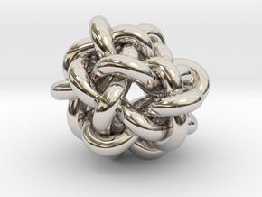 B&G Knot 05 in Rhodium Plated Brass