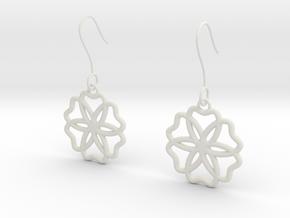 Geometric Earrings in White Natural Versatile Plastic