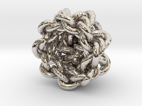 B&G Knot 13 in Rhodium Plated Brass