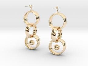 Interlocking in 14k Gold Plated Brass