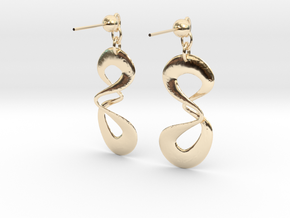 earring in 14k Gold Plated Brass