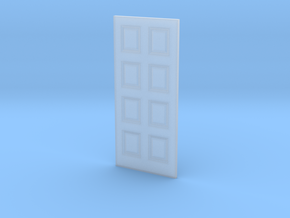 Door 8 Panel 1 1/32x2 9/32-01 1/35 in Smooth Fine Detail Plastic
