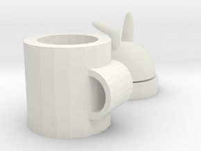 rabbit mug in White Natural Versatile Plastic: Medium