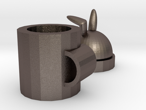 rabbit mug in Polished Bronzed-Silver Steel: Medium