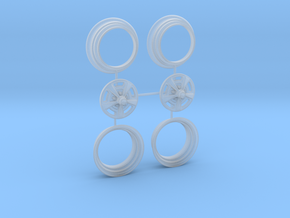 1/25 HQ GTS Wheels 7x14 2up 3pc in Smooth Fine Detail Plastic