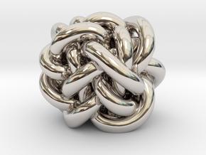 B&G Knot 14 in Rhodium Plated Brass
