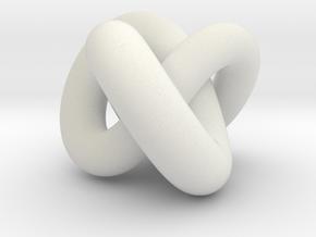 Torus Knot 01 in White Natural Versatile Plastic