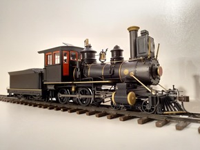 On30 Fluted Domes for Bachmann Inside Framed 4-4-0 in Smooth Fine Detail Plastic