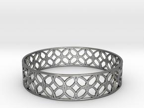 Enneper Curve Bracelet (001) in Fine Detail Polished Silver