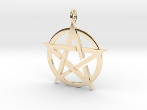 Pentagram Pendant in 14K Yellow Gold