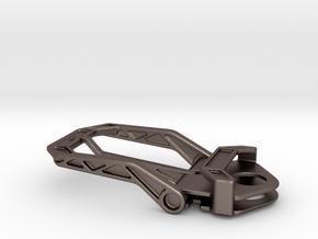 Belt Buckle 35mm in Polished Bronzed-Silver Steel