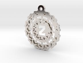 Magic Letter Z Pendant in Platinum