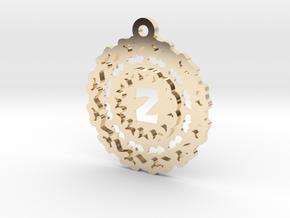 Magic Letter Z Pendant in 14K Yellow Gold