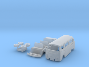1:87 scale vw Kombi t2 in Smooth Fine Detail Plastic