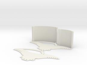 Losi Micro Crawler Spider Chassis Kit V1 in White Natural Versatile Plastic