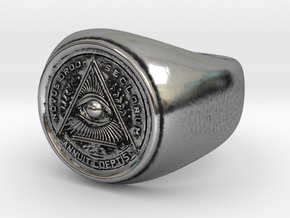 Illuminati Ring in Antique Silver: 6.25 / 52.125