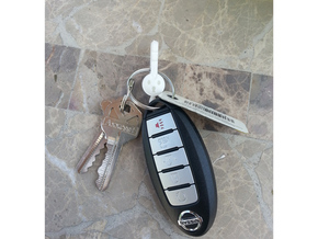 Klefki Key Ring Attachment in White Natural Versatile Plastic