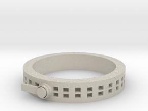 Zipper ring in Natural Sandstone: 1.5 / 40.5