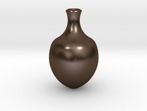 花瓶二.stl in Polished Bronze Steel