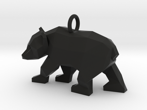 Grizzly Bear Pendant in Black Natural Versatile Plastic