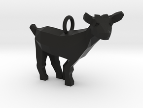 Goat Pendant in Black Natural Versatile Plastic