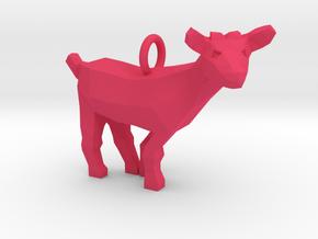 Goat Pendant in Pink Processed Versatile Plastic