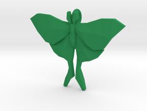 Luna Moth Pendant in Green Processed Versatile Plastic