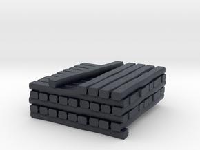N Standard Gauge Cross Tie Partial Stack in Black PA12