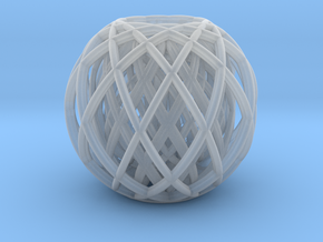 Rotating toruses between two wire frame spheres in Smooth Fine Detail Plastic
