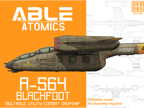 A-564 Combat Dropship in Smooth Fine Detail Plastic: 6mm