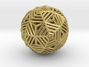 Dodecahedron to Icosahedron Transition in Natural Brass