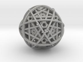 Hedron star inside sphere blue black in Aluminum