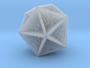 Icosahedron collapsing axis in Smooth Fine Detail Plastic