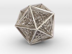 Icosahedron collapsing axis in Rhodium Plated Brass