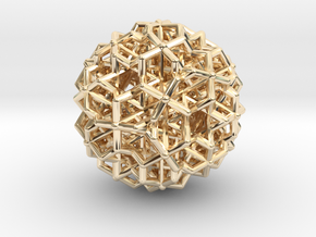 Hedron star Family Version 3 in 14k Gold Plated Brass