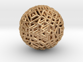Cube to octahedron transition Version 1 in Natural Bronze